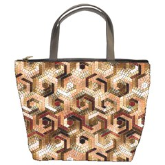 Pattern Factory 23 Brown Bucket Bags by MoreColorsinLife