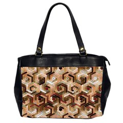 Pattern Factory 23 Brown Office Handbags (2 Sides)  by MoreColorsinLife