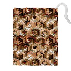 Pattern Factory 23 Brown Drawstring Pouches (xxl) by MoreColorsinLife