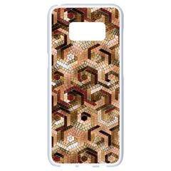 Pattern Factory 23 Brown Samsung Galaxy S8 White Seamless Case by MoreColorsinLife