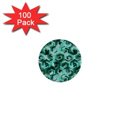 Pattern Factory 23 Teal 1  Mini Buttons (100 Pack)  by MoreColorsinLife