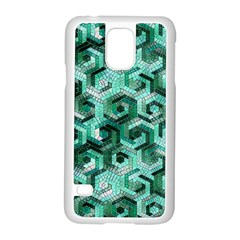 Pattern Factory 23 Teal Samsung Galaxy S5 Case (white) by MoreColorsinLife