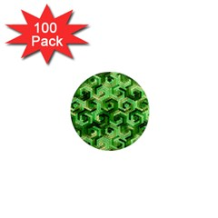Pattern Factory 23 Green 1  Mini Magnets (100 Pack)  by MoreColorsinLife