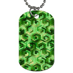 Pattern Factory 23 Green Dog Tag (two Sides)