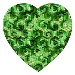 Pattern Factory 23 Green Jigsaw Puzzle (heart) by MoreColorsinLife