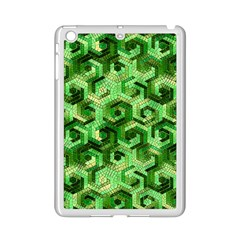 Pattern Factory 23 Green Ipad Mini 2 Enamel Coated Cases by MoreColorsinLife