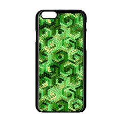 Pattern Factory 23 Green Apple Iphone 6/6s Black Enamel Case by MoreColorsinLife