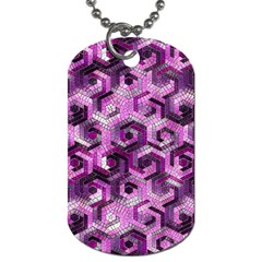 Pattern Factory 23 Pink Dog Tag (two Sides)