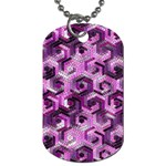 Pattern Factory 23 Pink Dog Tag (Two Sides) Front