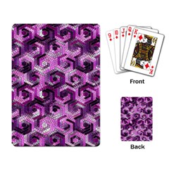 Pattern Factory 23 Pink Playing Card by MoreColorsinLife
