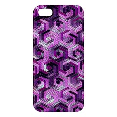 Pattern Factory 23 Pink Apple Iphone 5 Premium Hardshell Case by MoreColorsinLife