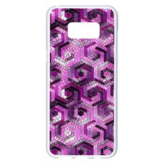 Pattern Factory 23 Pink Samsung Galaxy S8 Plus White Seamless Case by MoreColorsinLife