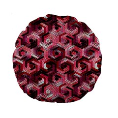 Pattern Factory 23 Red Standard 15  Premium Round Cushions