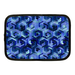 Pattern Factory 23 Blue Netbook Case (medium)  by MoreColorsinLife
