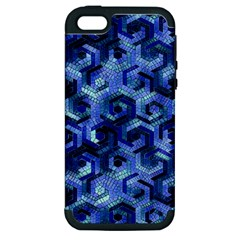 Pattern Factory 23 Blue Apple Iphone 5 Hardshell Case (pc+silicone) by MoreColorsinLife