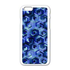Pattern Factory 23 Blue Apple Iphone 6/6s White Enamel Case by MoreColorsinLife