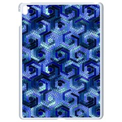 Pattern Factory 23 Blue Apple Ipad Pro 9 7   White Seamless Case by MoreColorsinLife