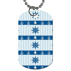 Sea Pattern Dog Tag (two Sides)