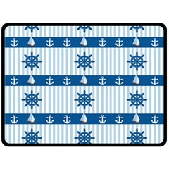 Sea Pattern Double Sided Fleece Blanket (large)