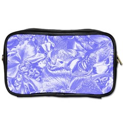 Shimmering Floral Damask,blue Toiletries Bags by MoreColorsinLife