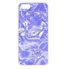 Shimmering Floral Damask,blue Apple Iphone 5 Seamless Case (white) by MoreColorsinLife