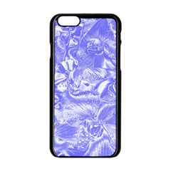 Shimmering Floral Damask,blue Apple Iphone 6/6s Black Enamel Case by MoreColorsinLife