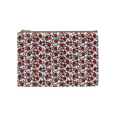 Roses Pattern Cosmetic Bag (medium)  by Valentinaart