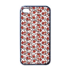 Roses Pattern Apple Iphone 4 Case (black) by Valentinaart