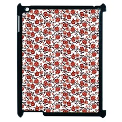 Roses Pattern Apple Ipad 2 Case (black)