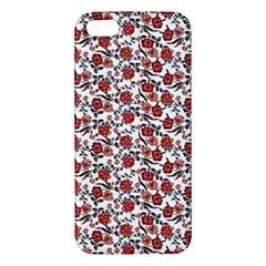 Roses Pattern Apple Iphone 5 Premium Hardshell Case by Valentinaart