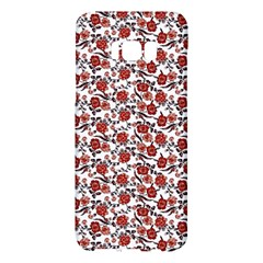 Roses Pattern Samsung Galaxy S8 Plus Hardshell Case  by Valentinaart