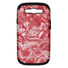 Shimmering Floral Damask Pink Samsung Galaxy S Iii Hardshell Case (pc+silicone)
