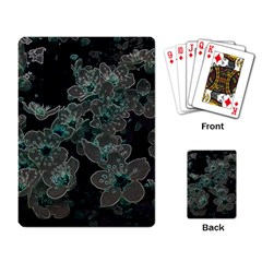 Glowing Flowers In The Dark C Playing Card by MoreColorsinLife