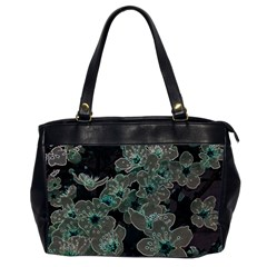 Glowing Flowers In The Dark C Office Handbags (2 Sides)  by MoreColorsinLife