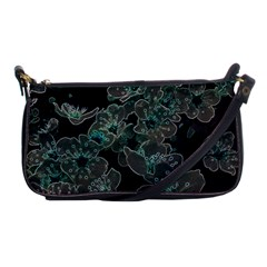 Glowing Flowers In The Dark C Shoulder Clutch Bags by MoreColorsinLife