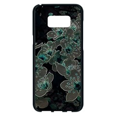 Glowing Flowers In The Dark C Samsung Galaxy S8 Plus Black Seamless Case by MoreColorsinLife