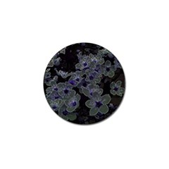 Glowing Flowers In The Dark B Golf Ball Marker (4 Pack)
