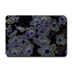 Glowing Flowers In The Dark B Small Doormat  by MoreColorsinLife