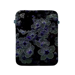 Glowing Flowers In The Dark B Apple Ipad 2/3/4 Protective Soft Cases by MoreColorsinLife