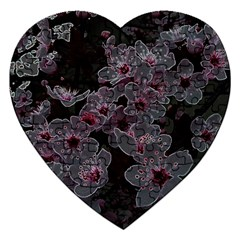 Glowing Flowers In The Dark A Jigsaw Puzzle (heart) by MoreColorsinLife
