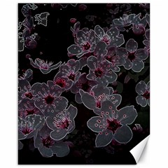 Glowing Flowers In The Dark A Canvas 16  X 20   by MoreColorsinLife