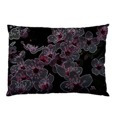 Glowing Flowers In The Dark A Pillow Case by MoreColorsinLife
