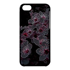 Glowing Flowers In The Dark A Apple Iphone 5c Hardshell Case by MoreColorsinLife
