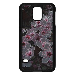 Glowing Flowers In The Dark A Samsung Galaxy S5 Case (black) by MoreColorsinLife