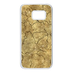 Cracked Skull Bone Surface A Samsung Galaxy S7 White Seamless Case