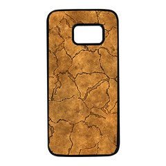 Cracked Skull Bone Surface C Samsung Galaxy S7 Black Seamless Case