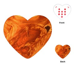 Fantastic Wood Grain Playing Cards (heart)
