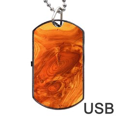Fantastic Wood Grain Dog Tag Usb Flash (one Side) by MoreColorsinLife