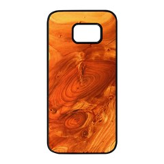 Fantastic Wood Grain Samsung Galaxy S7 Edge Black Seamless Case by MoreColorsinLife