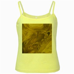Fantastic Wood Grain Soft Yellow Spaghetti Tank by MoreColorsinLife
